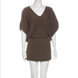 DVF Olive Green Dress or Blouse